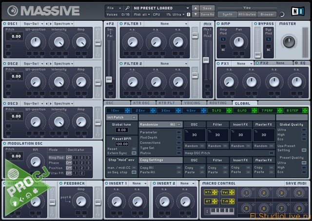 Скачать VST плагин для FL Studio Native Instruments Massive 1.3.0